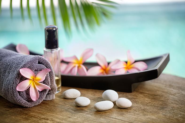Balinese spa setting